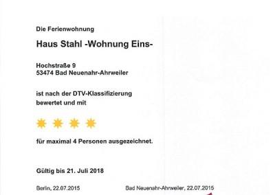 DTV-Klassifizierung Haus Stahl Wohnung 1